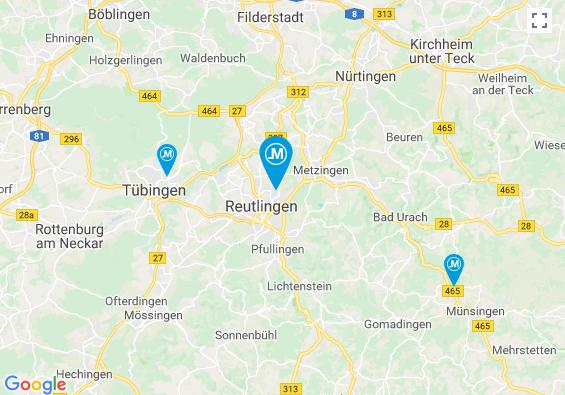 Link zu Google Maps: Menton Reutlingen