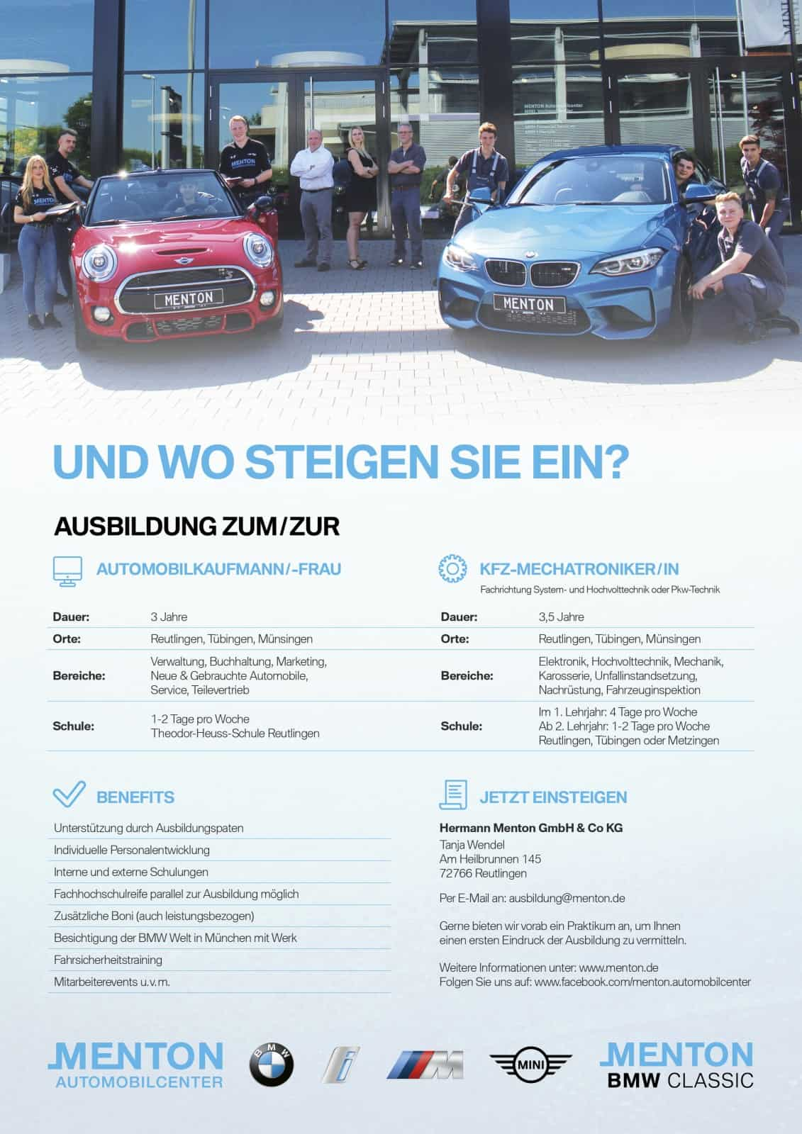 Ausbildung Und Studium Menton Automobilcenter
